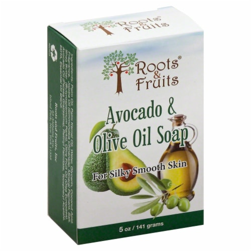 Roots & Fruits Avocado & Olive Oil Soap Perspective: front
