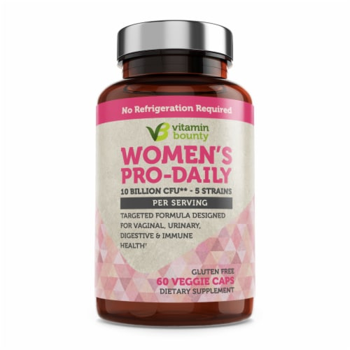 Vitamin Bounty Women's Pro-Daily Gluten Free Probiotics Perspective: front