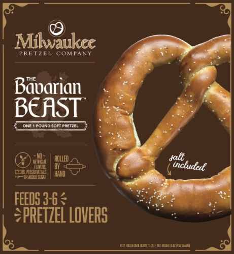 Milwaukee Pretzel Company The Bavarian Beast Soft Pretzel Perspective: front