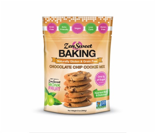 ZenSweet Baking Chocolate Chip Cookie Mix Perspective: front