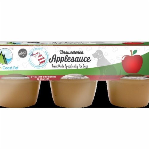 Green Coast Pet GX00044 Unsweetened Applesauce for Dogs, Pack of 6 Perspective: front