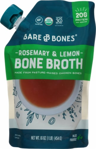 Bare Bones Paleo Rosemary & Lemon Chicken Bone Broth Perspective: front