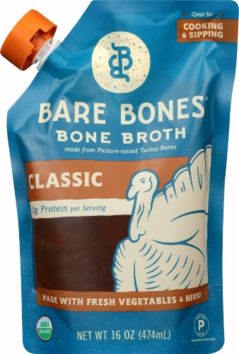 Bare Bones Organic Paleo Turkey Bone Broth Perspective: front