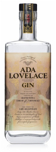 Francis Coppola Ada Lovelace Distilled Dry Gin Perspective: front