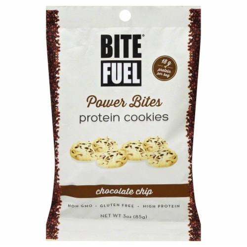 Bite Fuel Chocolate Chip Protein Cookies Perspective: front