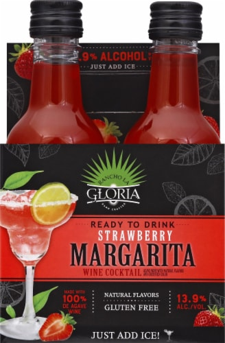 Fry S Food Stores Rancho La Gloria Strawberry Margarita 4 Ct 187 Ml