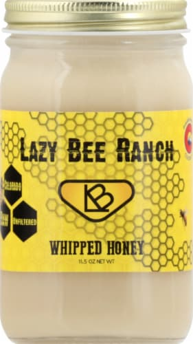 Lazy Bee Ranch Colorado Whipped Honey Perspective: front
