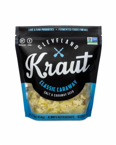 Cleveland Kraut Classic Caraway Sauerkraut Perspective: front