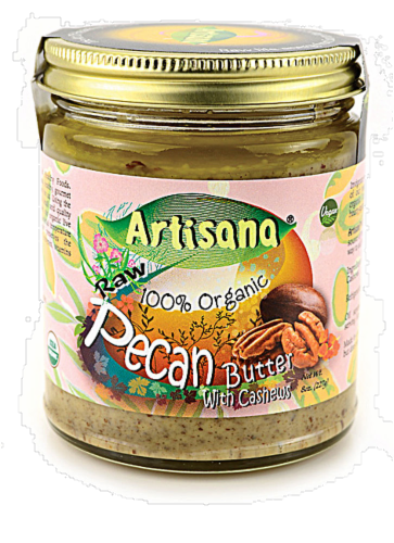 Artisana Organics  Raw Organic Pecan Butter Perspective: front