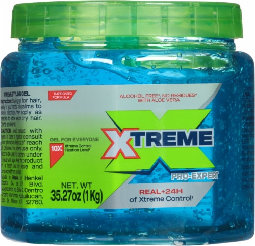 Wet Line Xtreme Blue Extra Firm Hold 24 Hour Styling Gel Perspective: front