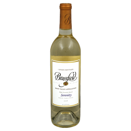 Brassfield Estate Winery Serenity White Table Wine Perspective: front