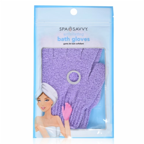 Spa Savvy Exfloiating Bath Gloves Perspective: front