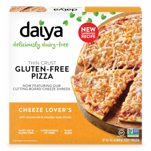 Daiya Gluten-Free Thin Crust Cheeze Lover's Pizza Perspective: front