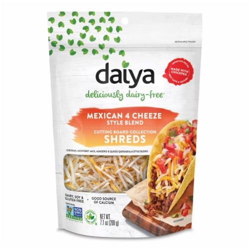 Daiya Dairy-Free Mexican 4 Cheeze Style Blend Shreds Perspective: front