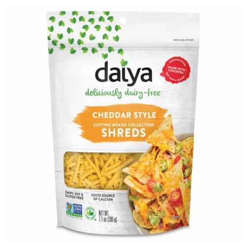 Daiya Dairy Free Cheddar Style Shreds Perspective: front
