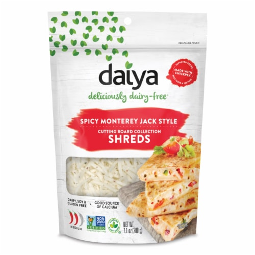 Daiya Dairy-Free Spicy Monterey Jack Style Shreds Perspective: front