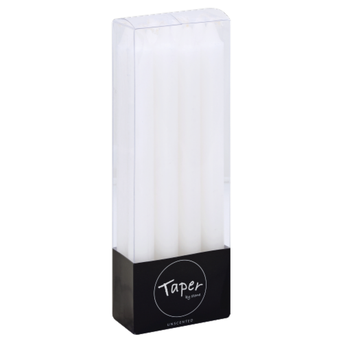 Stone Candles Taper Unscented - White Perspective: front