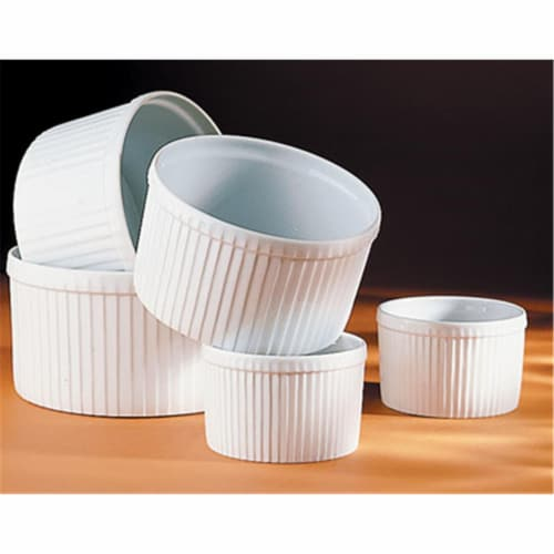 Pillivuyt Pleated Deep Souffle Dish  Super Large - 7.75 Inch  11 C. Perspective: front