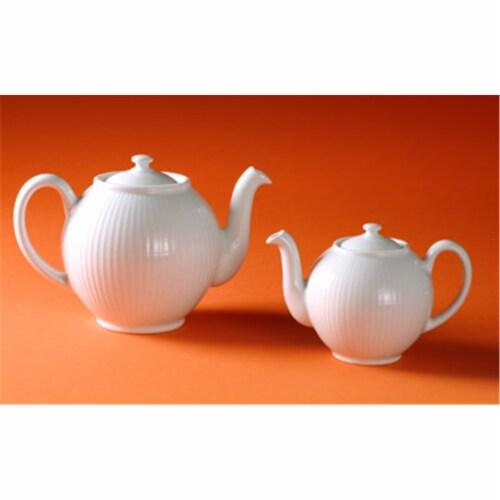 Pillivuyt Plisse Teapot - Large - 6 Servings  1.5 qt. Perspective: front
