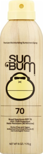 Sun Bum Broad Spectrum SPF 70 Sunscreen Spray Perspective: front