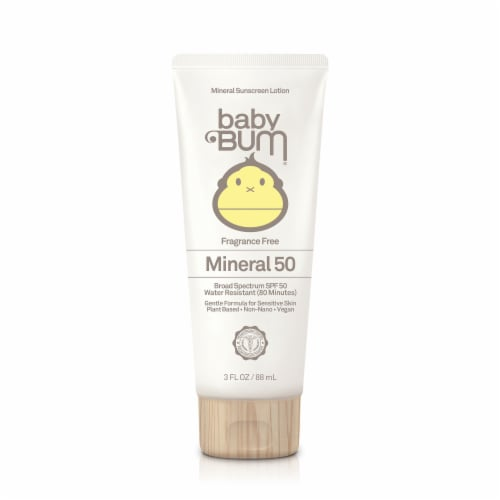 Baby Bum Mineral 50 Fragrance Free Sunscreen Lotion SPF 50 Perspective: front