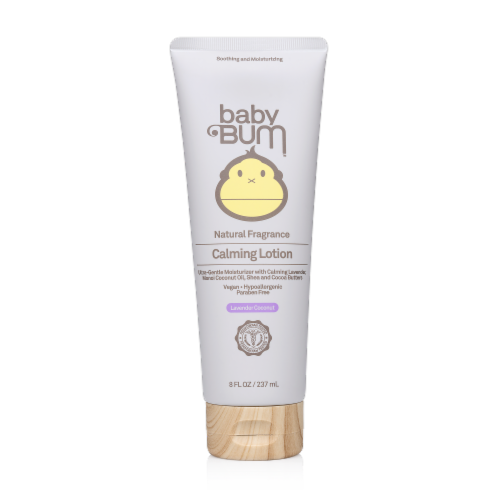 Baby Bum Lavender Coconut Calming Lotion Perspective: front