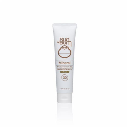 Sun Bum Mineral Tinted Sunscreen Face Lotion SPF 30 Perspective: front