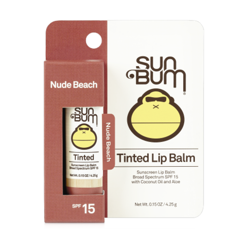 Sun Bum Tinted Lip Balm - Nude Beach (Blister) Perspective: front