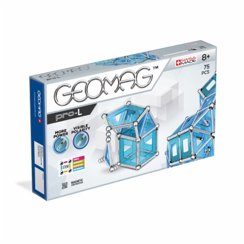 Geomag™ Pro-L Magnetic Construction Set Perspective: front