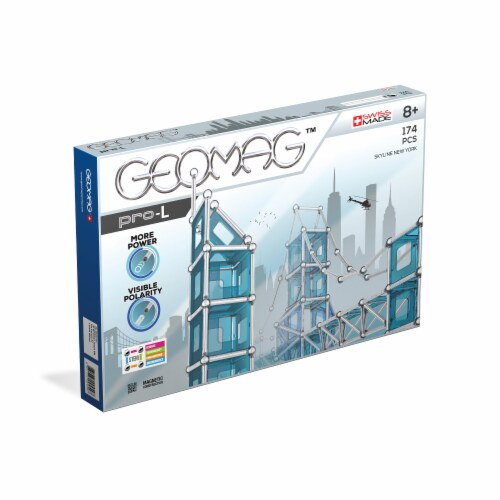 Geomag™ Pro-L Skyline New York Magnetic Construction Set Perspective: front