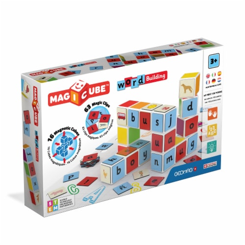 Geomag Magicube Word Building Set Perspective: front