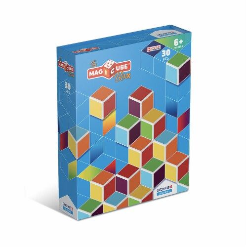 Geomagworld USA GMW120 Magicube Multicolor Cubes - Set of 30 Perspective: front