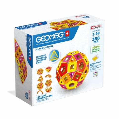 Geomag™ Classic Panels Magnetic Construction Set Perspective: front
