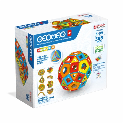 Geomag™ Supercolor Magnetic Construction Toy Perspective: front