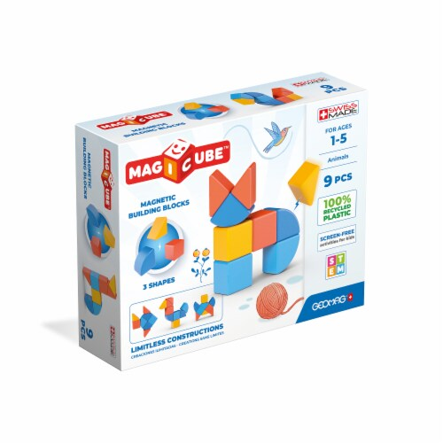 Geomag™ Magicube™ Magnetic Building Blocks Perspective: front