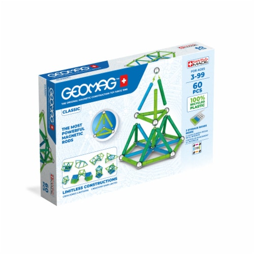 Geomag™ Assorted Magnetic Sticks & Metal Balls Perspective: front