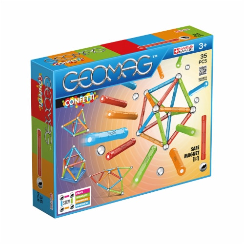 Geomagworld USA GMW351 Confetti Set - 35 Piece Perspective: front