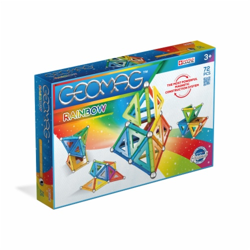 Geomag™ Rainbow Magnetic Construction Toy Perspective: front