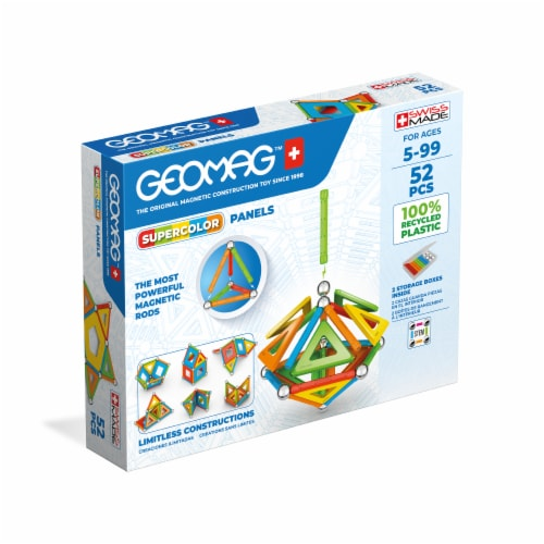 Geomag™ Supercolor Panels Magnetic Construction Toy Perspective: front