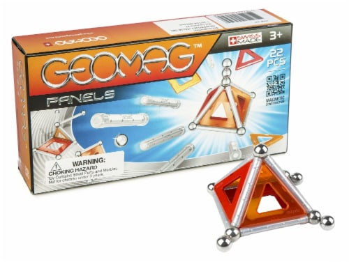 Geomag 22-Piece Construction Set with Assorted Panels Perspective: front