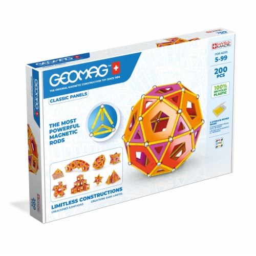 Geomag™ Classic Panels Magnetic Construction Toy Perspective: front
