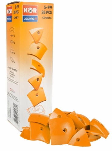 Geomag Kor Egg Covers - Orange - 26-Piece Creative Magnet Cover Addition Perspective: front