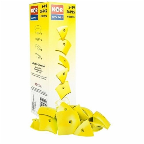 Geomag Kor Egg Covers - Yellow - 26-Piece Creative Magnet Cover Addition Perspective: front