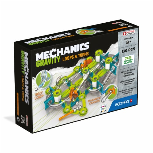Geomag™ Mechanics Gravity Loops & Turns Building Toy Perspective: front