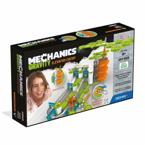 Geomag™ Mechanics Gravity Elevator Circuit Building Toy Perspective: front