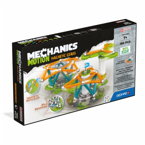 Geomag Mechanics Motion Magnetic Gears Perspective: front