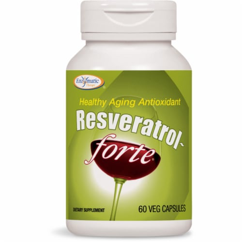 Enzymatic Therapy Resveratrol Forte Capsules Perspective: front
