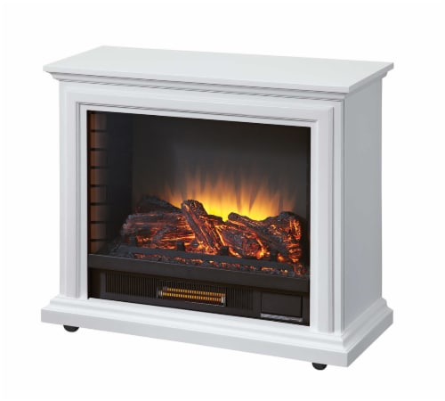 Pleasant Hearth Sheridan Mobile Infrared Fireplace - White Perspective: front