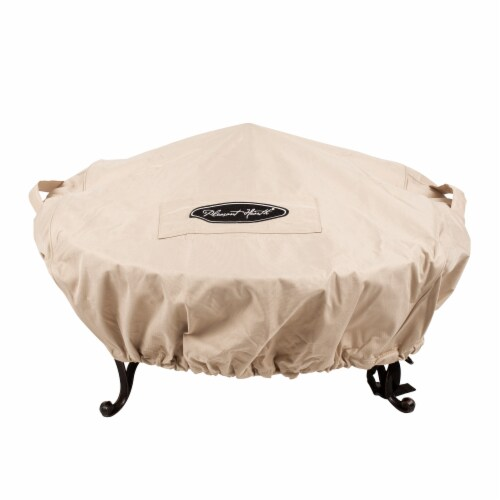 Pleasant Hearth Small Round Fire Pit Cover Perspective: front