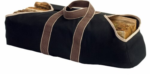 Pleasant Hearth Canvas Log Tote Perspective: front